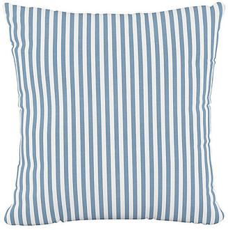 One Kings Lane Further 20x20 Pillow - Blue Stripe