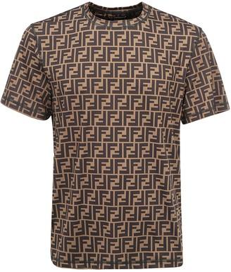 Fendi FF Motif Crewneck T-Shirt