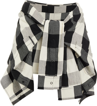 Alexander Wang Knotted Checked Cotton Shorts