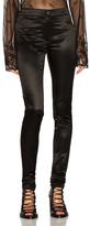 Ann Demeulemeester Satin Leggings in Black.