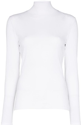 Ninety Percent Ribbed Roll-Neck Top