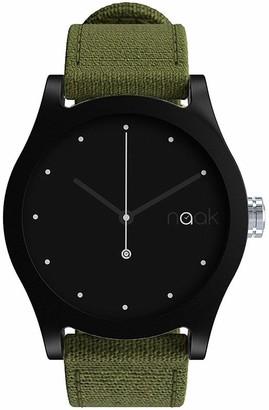 NAAK Unisex Adult Analogue Quartz Watch with Nylon Strap 24-38