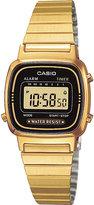 Casio La670wega1ef Gold-plated Digital Chronograph Watch