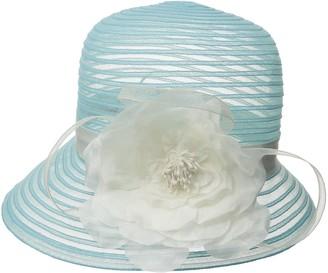 Scala Women's Cloche Hat with Flower