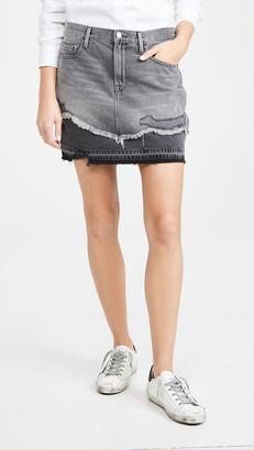 Frame Le Miniskirt Released Hem Mended