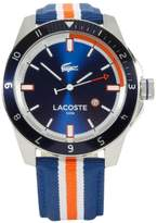 Lacoste 2010700 44mm Stainless Steel Case Multicolor Cloth Mineral Men's Watch