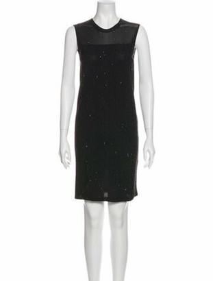 Akris Crew Neck Knee-Length Dress w/ Tags Black