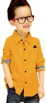 uxcell® Boy Long Sleeve Button Closure Casual Shirt Allegra Kids