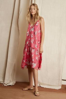 Velvet by Graham & Spencer Meghan Printed Challis Cami Tie Dress