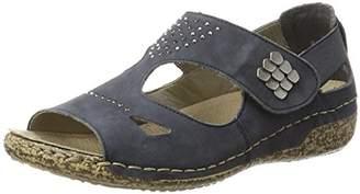 Rieker Women's V7264 Closed Toe Sandals, Blue (Ozean 14) 6 UK
