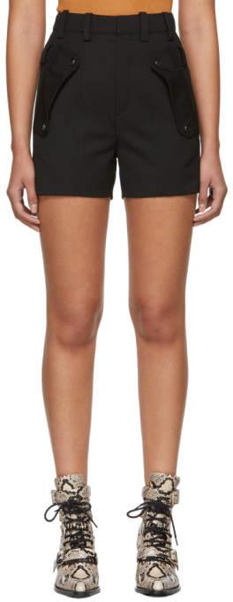 Chloé Black Wool Pocket Shorts