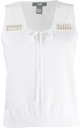 Class Roberto Cavalli Crystal Embellished Knitted Top