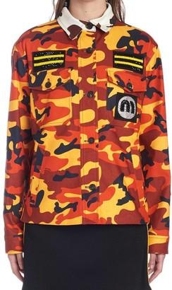 Miu Miu Camouflage Logo Jacket