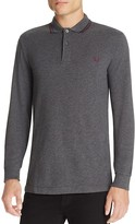 Fred Perry Twin Tipped Long Sleeve Slim Fit Polo Shirt