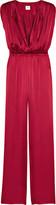 Halston Silk-charmeuse jumpsuit