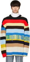 Calvin Klein 205W39NYC Multicolor Irregular Striped Sweater