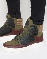 Criminal Damage Baller Hi Top Sneakers