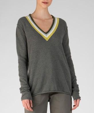 Cashmere Deep V-Neck Sweater - Safari