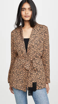BB Dakota Belted Cheetah Print Blazer