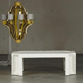 The Well Appointed House Brussels Coffee Table in White Lacquer