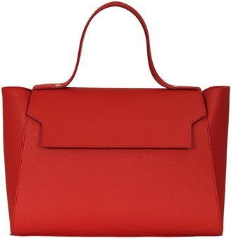 Cara The Top Handle Tote Leather Bag Red
