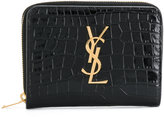 Saint Laurent monogram logo wallet