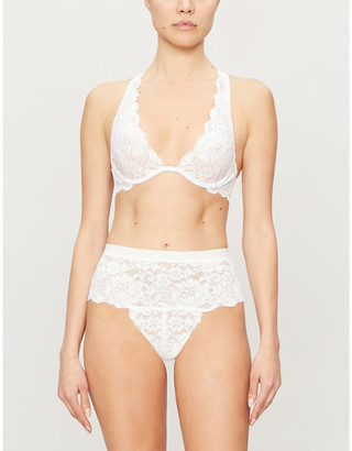 We Are HAH 2 Timer underwired stretch-lace halterneck bra