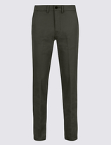 M&S Collection Slim Fit Cotton Rich Chinos with Stretch