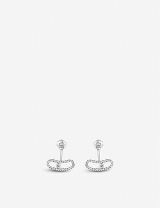 Messika Move Uno 18ct white-gold and diamond earrings