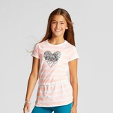 Cat & Jack Girls' Short Sleeve Patches Tunic Shirt - Cat & Jack Moxie Peach