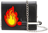 Yazbukey fire patch chain bag - women - Leather/Polyamide - One Size