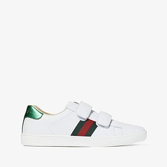 Gucci Kids New Ace V.L. Sneakers (Little Kid/Big Kid) (White) Kids Shoes