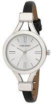 Laura Ashley Women's LA31011SS Analog Display Japanese Quartz Black Watch