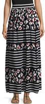 RED Valentino Women's Silk Printed Maxi Skirt
