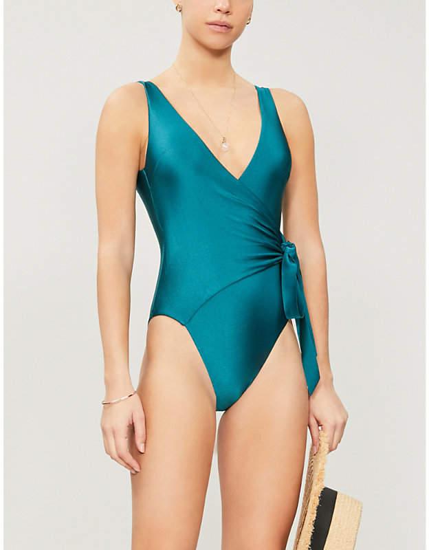 Zimmermann Allia V-neck high-leg swimsuit