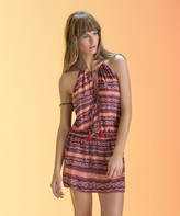 Vix Paula Hermanny Sofia Masai Tunnel Neck Short Dress