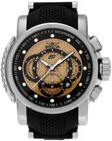 Invicta Men's 19321 S1 Rally Stainless Steel Chronograph Silicone Strap Watch - Black