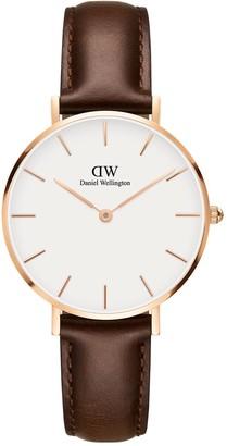 Daniel Wellington Women's 32mm Petite Leather Strap Watch