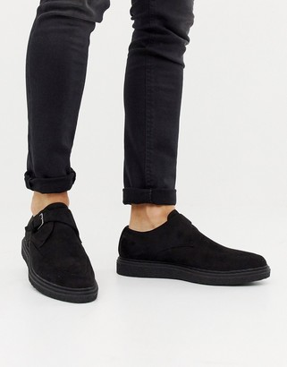 Truffle Collection Pointed Creeper Shoe in Black