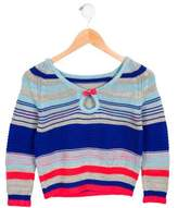 Little Marc Jacobs Girls' Metallic-Accented Striped Sweater w/ Tags