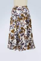 Erdem Zuri printed satin skirt