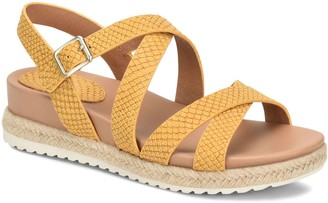 Sofft Espadrille Buckle Sandals - Beechwood