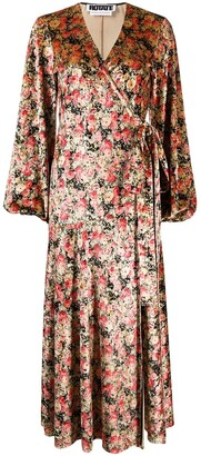 Rotate by Birger Christensen Floral Wrap Dress