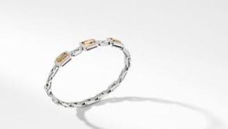 David Yurman Novella Three Stone Bracelet With Champagne Citrine,
