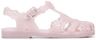 Viktor & Rolf Laser-Cut Floral Jelly Sandals