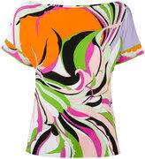 Emilio Pucci rainbow printed T-shirt - women - Spandex/Elastane/Viscose - 38