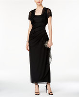 MSK Embellished Shrug & Sleeveless Gown