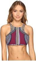 Red Carter Tribal Daze Strappy High Neck Top