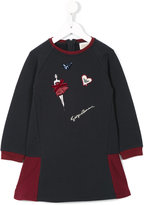 Armani Junior patched sweater dress