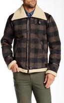 Diesel W-Ojas Faux Shearling Collar Jacket